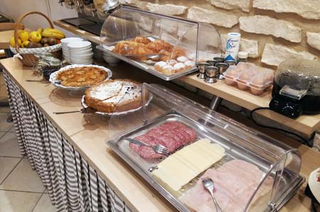 Cold cuts, pasta and much more for breakfast